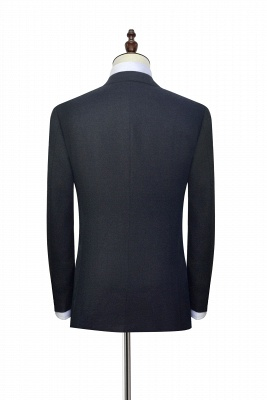 New Black Tweed Notched lapel Custom Suits for Formal | High Quality Single Breasted 2 Pockets Hand Made Wool Suit_4