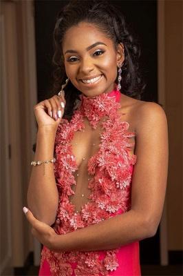 Chic Halter Flower Applique Sleeveless Long Prom Dress_3