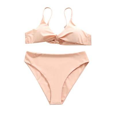 Bikinis Deux-Pièces Vintage Nude Pink Nude Bretelles_7