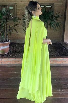 Elegant High-Neck Sleeveless A-Line Long Prom Dress_2