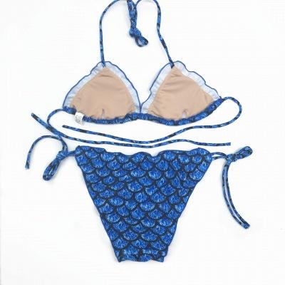 Fish-scale Patterns Two Piece Bandage  Sexy Bikini Sets_3