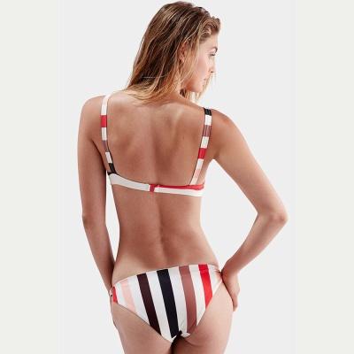 Bikinis Deux-Pièces Élégant Rayures Bretelles Spaghetti Noeud_4