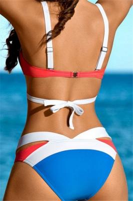 Mix Colors Bandage Straps High Waist Sexy Bikini Swimsuits_7