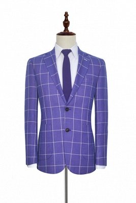 Hot Recommend Violet Purple Two Patch Pockets Custom Suit | Classic Single Breasted Peak Lapel Wedding Tuxedos For Groom_3