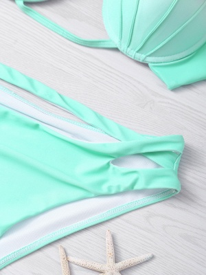 Ensemble de bikini vert dégradé menthe verte_5