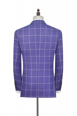 Hot Recommend Violet Purple Two Patch Pockets Custom Suit | Classic Single Breasted Peak Lapel Wedding Tuxedos For Groom_4