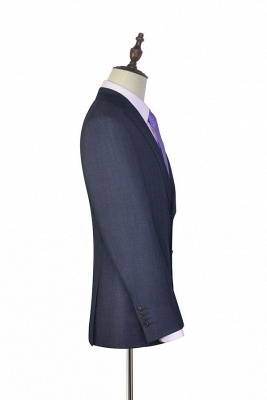 Dark Grey Wool Stripe Two botton Suit For Men | New Arriving Single Breasted Wedding Suit For Groom_5