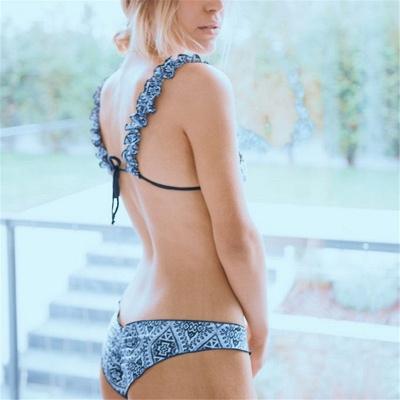 Patterns Ruffled Straps Two Piece Sexy Bikini Sets_7