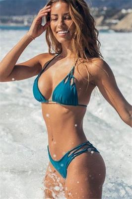 Halter Pads Spaghetti Straps Two Piece Sexy Bikini Sets_2