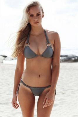 Ensemble de bikini deux pièces triangle sexy maigres maillots de bain_1