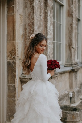 Elegant Appliques Cheap Wedding Dresses | Side Slit  Mermaid Sleeveless Flowers Bridal Gowns_4