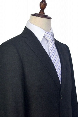 New Black Tweed Notched lapel Custom Suits for Formal | High Quality Single Breasted 2 Pockets Hand Made Wool Suit_6