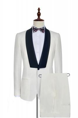 Costume de mariage sans manche blanc avec col châle | Nouvelle arrivée 2 poche costume personnalisé pour les hommes