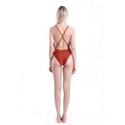 Kwyhole V-neck Criss-cross High Waist Swimsuits_4