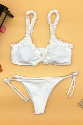 Ruffles Knot Two Piece Sexy Bikini Sets_12