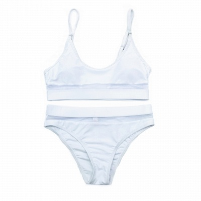 Simple Two Piece Hollow Out Mesh Sexy Bikini Sets_14