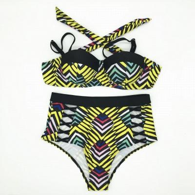 Tailles Plus Taille Imprimés Colorés Ensembles De Bikini Deux Pièces_6