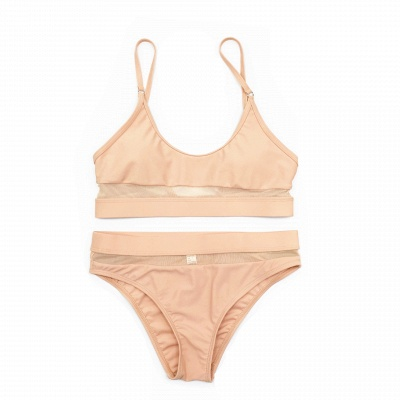 Simple Two Piece Hollow Out Mesh Sexy Bikini Sets_12