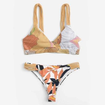 Painted Prints Straps Two Piece Sexy Bikini Sets_4