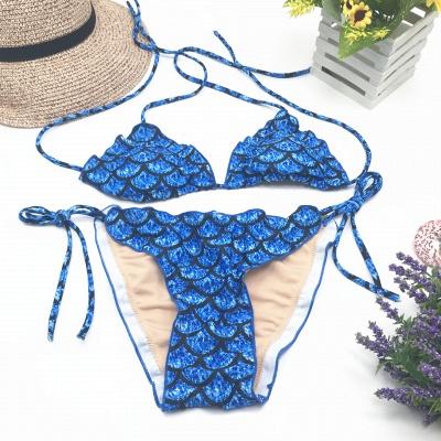 Fish-scale Patterns Two Piece Bandage  Sexy Bikini Sets_6
