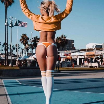 Triangle Pads Colorful Plain Sheer Net Sexy Bikini Sets_17