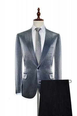 Hot Recommander Grey Velvet Costume de mariage sur mesure pour le marié | Revers de crête simple boutonnage 2 poches formelle hommes costumes