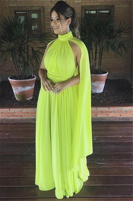 Elegant High-Neck Sleeveless A-Line Long Prom Dress_1