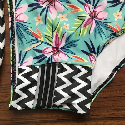 Bikinis à bretelles rembourrées et imprimées à fleurs_7