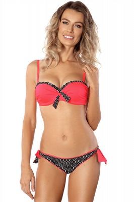 Sweetheart Pads Patterns Maillots de Bain Bikini Deux Pièces Rouge_1