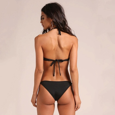 Hot Halter Two Piece Push-up Sexy Bikini Swimsuits_7