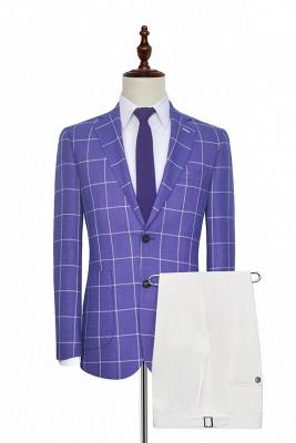 Hot Recommend Violet Violet Deux poches plaquées Costume sur mesure | Smokings classiques de mariage de revers de pic de poitrine simple pour le marié
