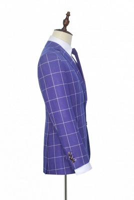 Hot Recommend Violet Purple Two Patch Pockets Custom Suit | Classic Single Breasted Peak Lapel Wedding Tuxedos For Groom_5