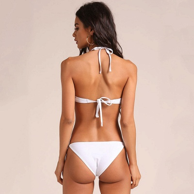 Hot Halter Two Piece Push-up Sexy Bikini Swimsuits_9