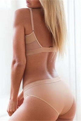 Simple Two Piece Hollow Out Mesh Sexy Bikini Sets_11