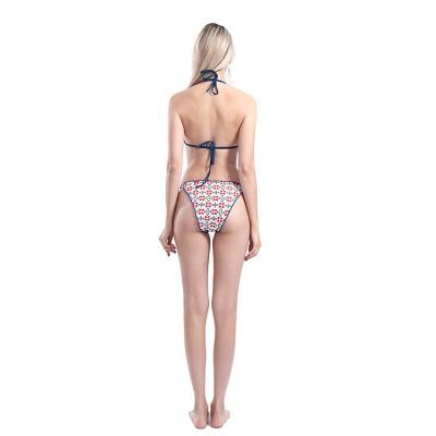 Maillots de bain bikini en deux pièces à motif floral_3