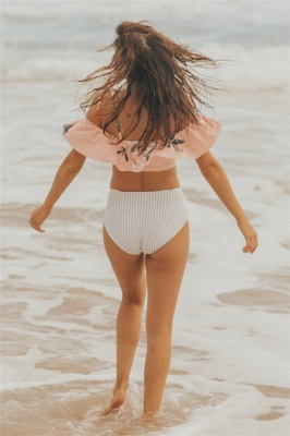 Pink Printed Two Piece Swimsuit Cheap | Sexy Bikini for Summer Beach Online_6