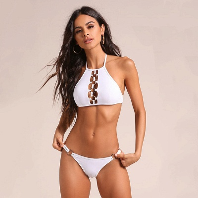 Hot Halter Two Piece Push-up Sexy Bikini Swimsuits_5