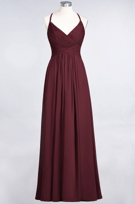 Elegant Princess Chiffon Spaghetti-Straps V-Neck Sleeveless Floor-Length Bridesmaid Dress with Ruffles_10