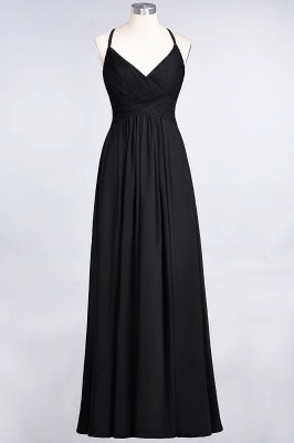 Elegant Princess Chiffon Spaghetti-Straps V-Neck Sleeveless Floor-Length Bridesmaid Dress with Ruffles_28