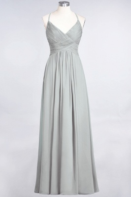 Elegant Princess Chiffon Spaghetti-Straps V-Neck Sleeveless Floor-Length Bridesmaid Dress with Ruffles_29
