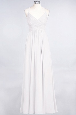 Elegant Princess Chiffon Spaghetti-Straps V-Neck Sleeveless Floor-Length Bridesmaid Dress with Ruffles_1
