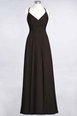 Elegant Princess Chiffon Spaghetti-Straps V-Neck Sleeveless Floor-Length Bridesmaid Dress with Ruffles_11