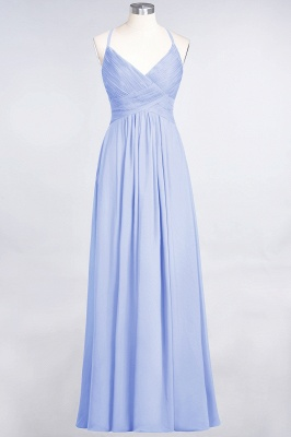 Elegant Princess Chiffon Spaghetti-Straps V-Neck Sleeveless Floor-Length Bridesmaid Dress with Ruffles_21