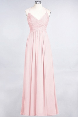 Elegant Princess Chiffon Spaghetti-Straps V-Neck Sleeveless Floor-Length Bridesmaid Dress with Ruffles_3