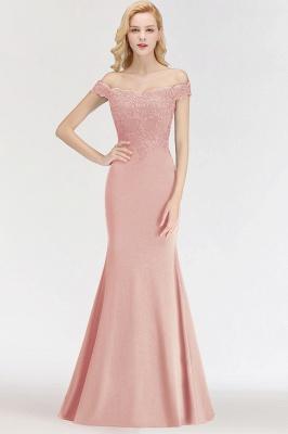 Elegant Mermaid Off-The-Shoulder Lace Green Bridesmaid Dresses_8