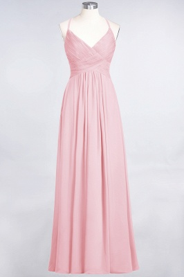 Elegant Princess Chiffon Spaghetti-Straps V-Neck Sleeveless Floor-Length Bridesmaid Dress with Ruffles_4