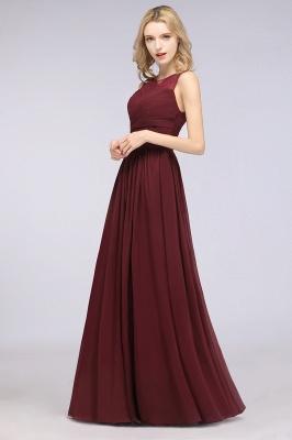 Elegant Princess Chiffon Tulle Lace Scoop Sleeveless Floor-Length Bridesmaid Dress with Ruffle_3