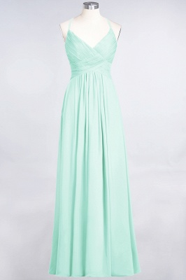 Elegant Princess Chiffon Spaghetti-Straps V-Neck Sleeveless Floor-Length Bridesmaid Dress with Ruffles_34