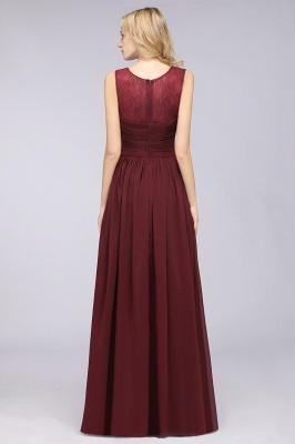 Elegant Princess Chiffon Tulle Lace Scoop Sleeveless Floor-Length Bridesmaid Dress with Ruffle_2