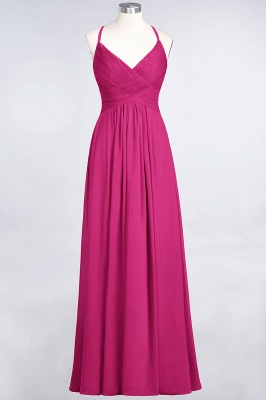 Elegant Princess Chiffon Spaghetti-Straps V-Neck Sleeveless Floor-Length Bridesmaid Dress with Ruffles_9